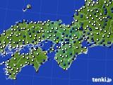 近畿地方のアメダス実況(風向・風速)(2019年08月15日)