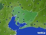2019年08月15日の愛知県のアメダス(風向・風速)