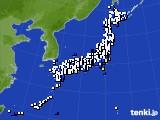 2019年08月16日のアメダス(風向・風速)