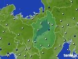 滋賀県のアメダス実況(風向・風速)(2019年08月16日)