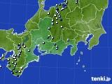 東海地方のアメダス実況(降水量)(2019年08月19日)