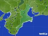 三重県のアメダス実況(降水量)(2019年08月19日)