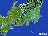 2019年08月20日の関東・甲信地方のアメダス(降水量)