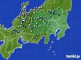 関東・甲信地方のアメダス実況(降水量)(2019年08月21日)