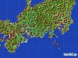 東海地方のアメダス実況(気温)(2019年08月21日)