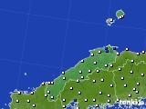 島根県のアメダス実況(風向・風速)(2019年08月21日)