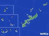 沖縄県のアメダス実況(風向・風速)(2019年08月21日)
