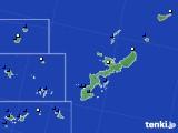 2019年08月23日の沖縄県のアメダス(風向・風速)
