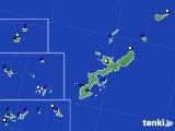 2019年08月24日の沖縄県のアメダス(風向・風速)