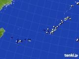 2019年08月25日の沖縄地方のアメダス(風向・風速)