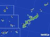 2019年08月25日の沖縄県のアメダス(風向・風速)