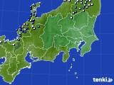 2019年08月29日の関東・甲信地方のアメダス(降水量)