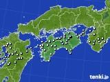 四国地方のアメダス実況(降水量)(2019年08月31日)