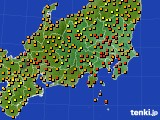 関東・甲信地方のアメダス実況(気温)(2019年08月31日)