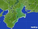三重県のアメダス実況(降水量)(2019年09月04日)