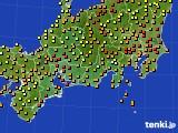 2019年09月23日の東海地方のアメダス(気温)