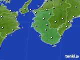 2019年10月18日の和歌山県のアメダス(風向・風速)