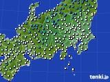 関東・甲信地方のアメダス実況(気温)(2019年12月05日)
