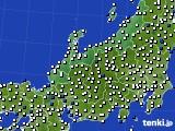 北陸地方のアメダス実況(風向・風速)(2019年12月06日)