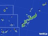 沖縄県のアメダス実況(風向・風速)(2019年12月08日)