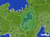 滋賀県のアメダス実況(風向・風速)(2019年12月18日)