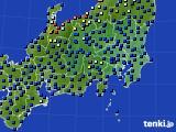 関東・甲信地方のアメダス実況(日照時間)(2019年12月19日)