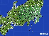 関東・甲信地方のアメダス実況(風向・風速)(2019年12月19日)