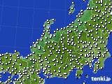 北陸地方のアメダス実況(風向・風速)(2019年12月19日)