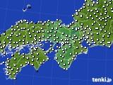 近畿地方のアメダス実況(風向・風速)(2019年12月19日)