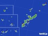2019年12月22日の沖縄県のアメダス(日照時間)