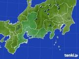 東海地方のアメダス実況(積雪深)(2019年12月24日)