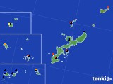 2019年12月24日の沖縄県のアメダス(日照時間)