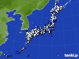 2019年12月27日のアメダス(風向・風速)