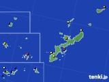2019年12月28日の沖縄県のアメダス(日照時間)