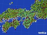 近畿地方のアメダス実況(日照時間)(2020年01月02日)