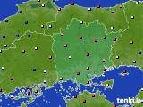 岡山県のアメダス実況(日照時間)(2020年01月02日)