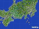 東海地方のアメダス実況(気温)(2020年01月02日)
