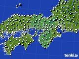 近畿地方のアメダス実況(気温)(2020年01月02日)