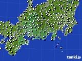 東海地方のアメダス実況(風向・風速)(2020年01月02日)