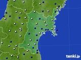 2020年01月02日の宮城県のアメダス(風向・風速)