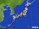 2020年01月04日のアメダス(風向・風速)