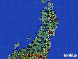 2020年01月05日の東北地方のアメダス(日照時間)