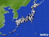 2020年01月05日のアメダス(風向・風速)