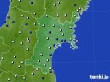 2020年01月05日の宮城県のアメダス(風向・風速)