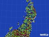 2020年01月06日の東北地方のアメダス(日照時間)