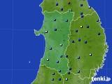 2020年01月08日の秋田県のアメダス(積雪深)