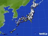2020年01月08日のアメダス(風向・風速)