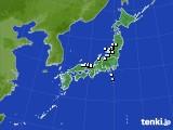 アメダス実況(降水量)(2020年01月10日)
