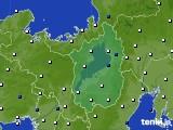 2020年01月10日の滋賀県のアメダス(風向・風速)