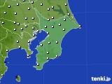 2020年01月13日の千葉県のアメダス(風向・風速)